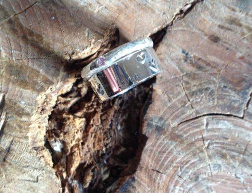 Zilveren ring met aanschuifring