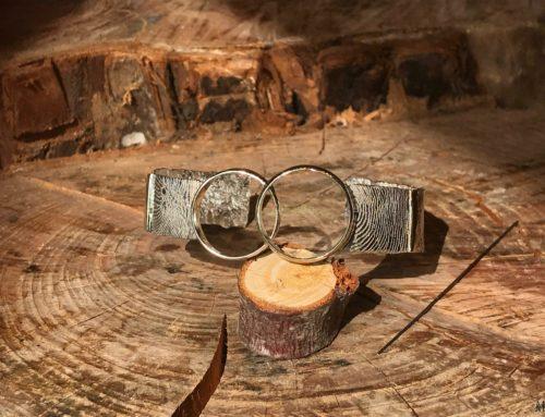 Armband gemaakt met trouwringen